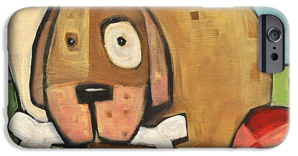 Doghouse iPhone Cases - Square Dog iPhone Case by Tim Nyberg