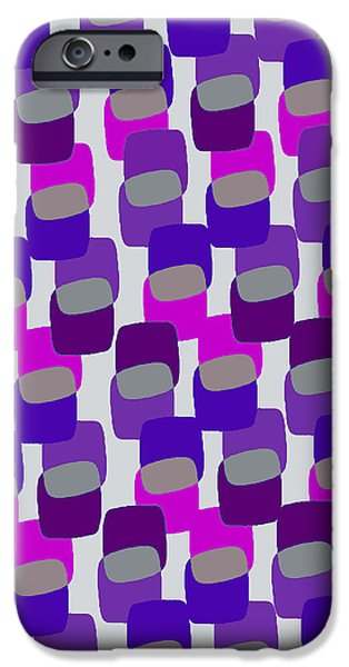 Louisa iPhone Cases - Squares iPhone Case by Louisa Knight
