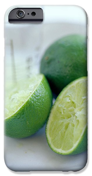 Squeezed Lime iPhone Case by David Munns