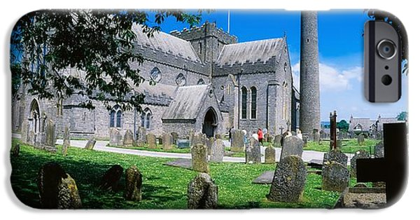 Headstones iPhone Cases - St Canices Cathedral &, Round Tower iPhone Case by The Irish Image Collection