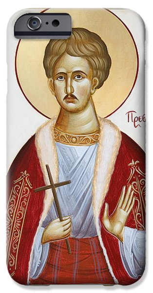 New Martyr iPhone Cases - St Chrestos of Preveza iPhone Case by Julia Bridget Hayes