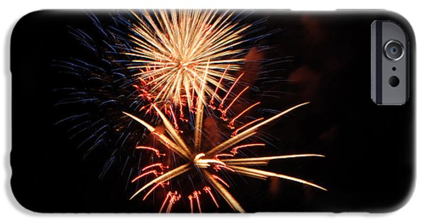 4th Of July iPhone Cases - St Clair Fireworks 2 iPhone Case by Grace Grogan