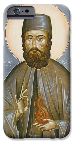 St Efraim of Nea Makri iPhone Case by Julia Bridget Hayes