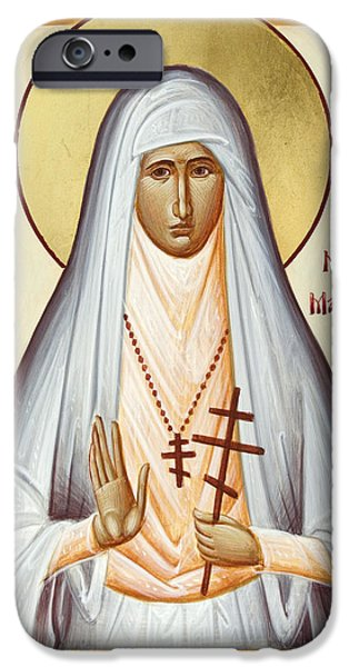 Duchess Paintings iPhone Cases - St Elizabeth the New Martyr iPhone Case by Julia Bridget Hayes