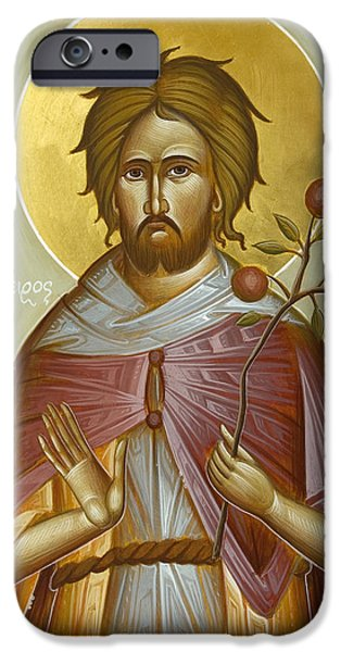 St Euphrosynos the Cook iPhone Case by Julia Bridget Hayes