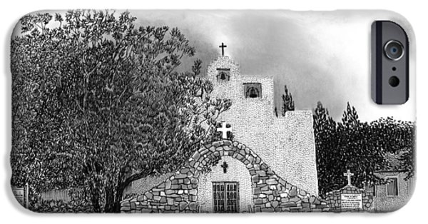 Pm iPhone Cases - St Franncis de Paula Mission iPhone Case by Jack Pumphrey