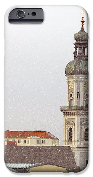 St. George in Snow - Freising Bavaria Germany iPhone Case by Christine Till