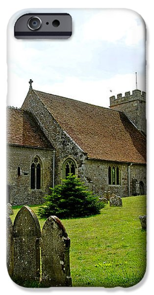 St George's Church at Arreton iPhone Case by Rod Johnson
