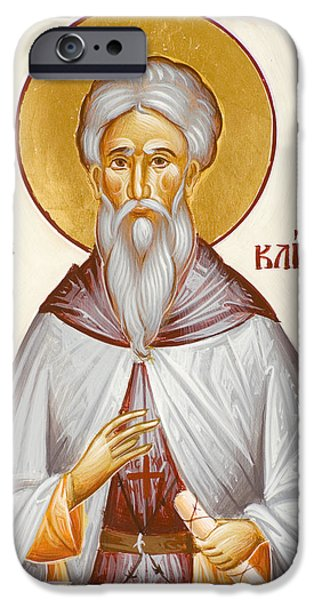 St John Climacus iPhone Case by Julia Bridget Hayes