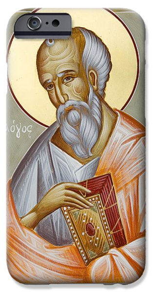 St John The Evangelist Paintings iPhone Cases - St John the Theologian iPhone Case by Julia Bridget Hayes