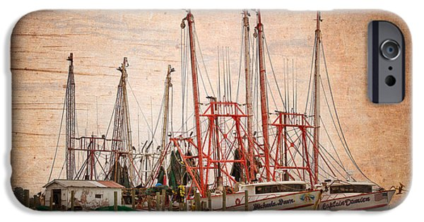 St. Johns River iPhone Cases - St Johns Shrimping iPhone Case by Debra and Dave Vanderlaan