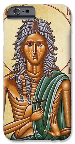 Julia Bridget Hayes iPhone Cases - St Mary of Egypt  iPhone Case by Julia Bridget Hayes
