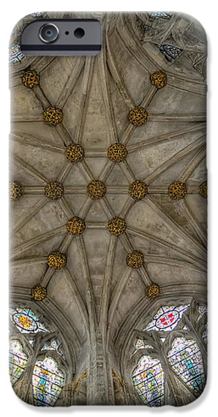 St Mary's Ceiling iPhone Case by Adrian Evans