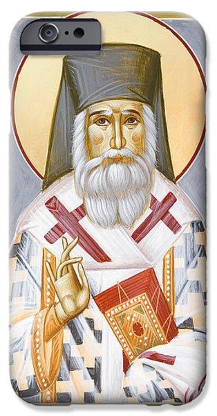 Saint Nektarios Of Aigina iPhone Cases - St Nektarios iPhone Case by Julia Bridget Hayes