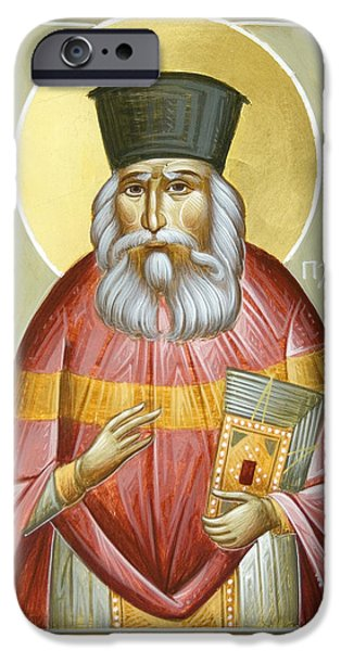St Nicholas Icon iPhone Cases - St Nicholas Planas iPhone Case by Julia Bridget Hayes