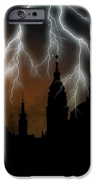 St Nikolas church - Prague iPhone Case by Michal Boubin