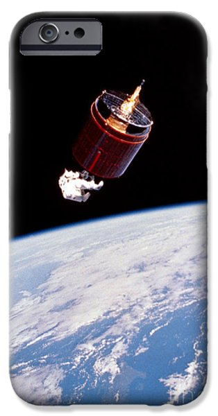 Space-craft iPhone Cases - Stabilizing Spacecraft iPhone Case by Science Source/NASA