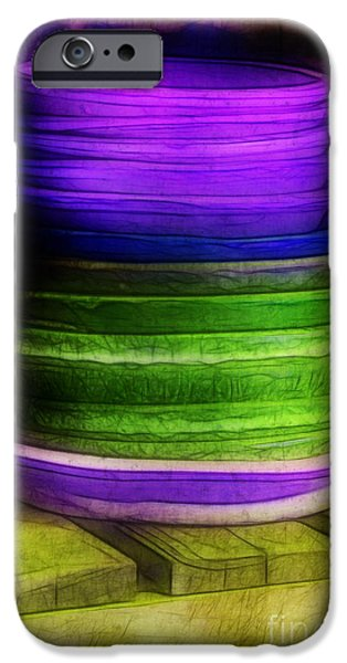 Stack of Saucers iPhone Case by Judi Bagwell