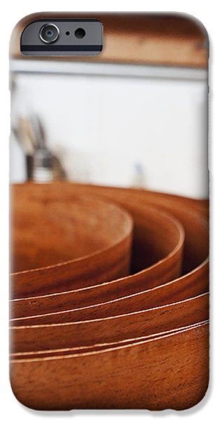 Stack of Wooden Bowls iPhone Case by Jetta Productions, Inc