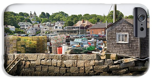 Rockport Ma iPhone Cases - Stacked and waiting iPhone Case by Warren Carrington