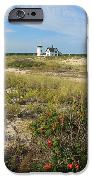 Cape Cod Lighthouses iPhone Cases - Stage Harbor Lighthouse Cape Cod iPhone Case by John Burk