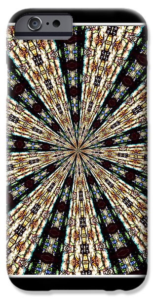 Stained Glass Kaleidoscope 39 iPhone Case by Rose Santuci-Sofranko