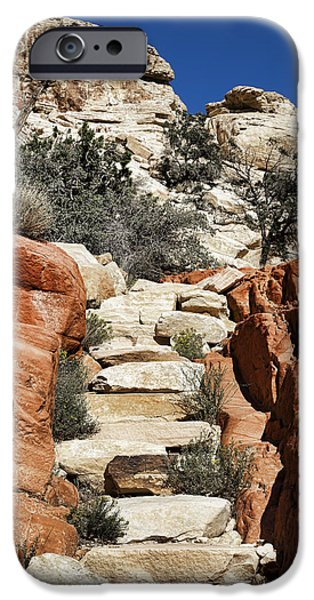 Stone Steps iPhone Cases - Staircase Stones iPhone Case by Kelley King