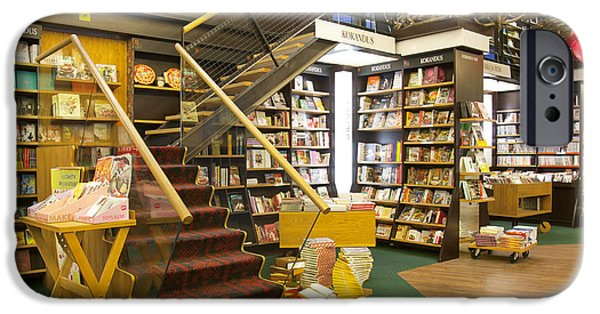 Bookcase iPhone Cases - Stairs in a Bookstore iPhone Case by Jaak Nilson