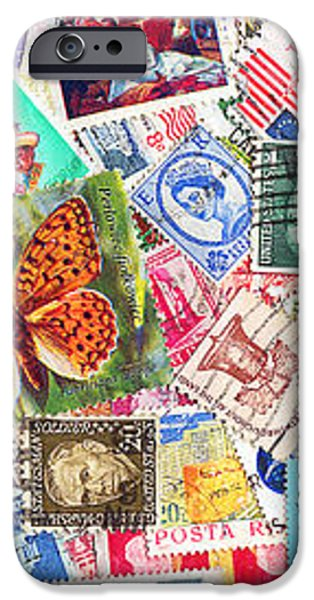 Stamp Collection . 3 to 1 Proportion iPhone Case by Wingsdomain Art and Photography