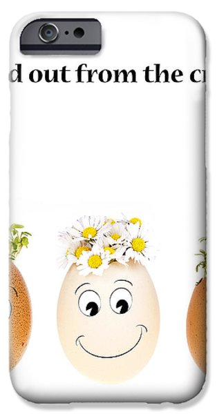 Stand out from the crowd iPhone Case by Jane Rix