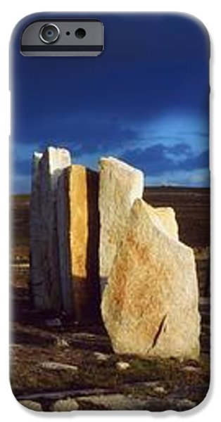 Standing Stones, Blacksod Point, Co iPhone Case by The Irish Image Collection