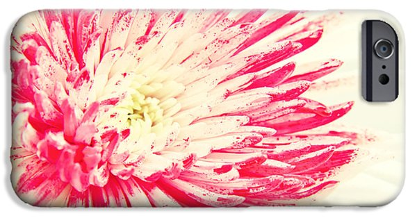 Close Up Floral Mixed Media iPhone Cases - Star iPhone Case by Angela Doelling AD DESIGN Photo and PhotoArt