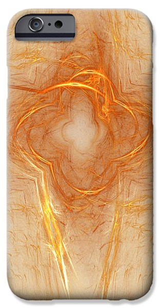 Star In Abstract iPhone Case by Deborah Benoit