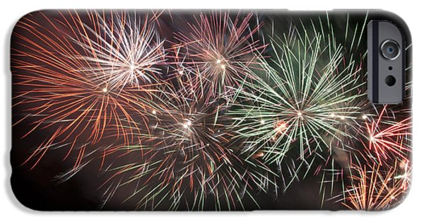 Fireworks iPhone Cases - Star Spangled Night iPhone Case by Glenn Gordon
