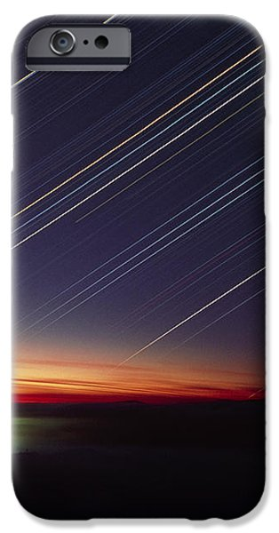 Star Trails Over Queen Charlotte City, Canada iPhone Case by David Nunuk