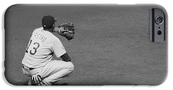 Chicago Cubs iPhone Cases - Starlin Castro Chicago Cubs iPhone Case by Lauri Novak