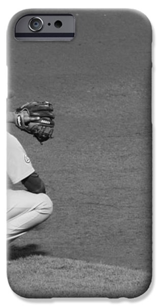 Starlin Castro Chicago Cubs iPhone Case by Lauri Novak