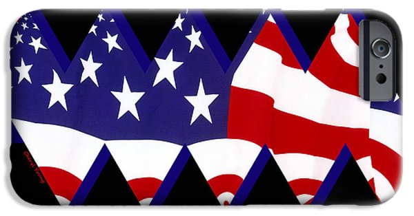 Fourth Of July iPhone Cases - Stars and Stripes iPhone Case by Cheryl Young