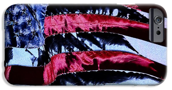 Old Glory iPhone Cases - Stars and Stripes iPhone Case by David Patterson