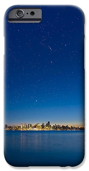 Stars Over Vancouver, Canada iPhone Case by David Nunuk