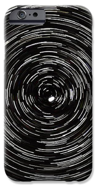 Startrails with Polaris at center iPhone Case by Cristian Mihaila