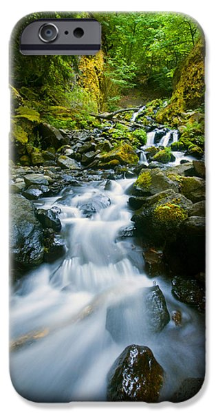 Creek iPhone Cases - Starvation Creek Falls iPhone Case by Mike  Dawson
