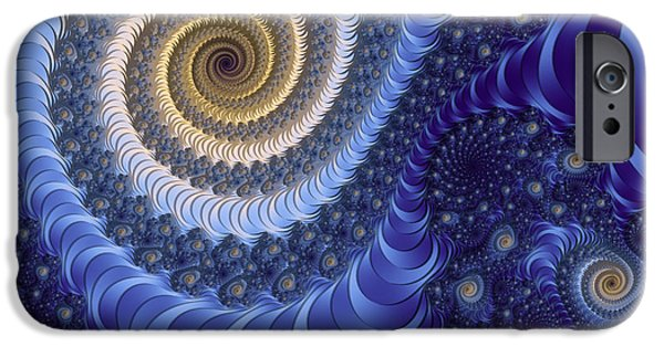 Fractal Other Worlds iPhone Cases - Stary Night iPhone Case by Georgiana Romanovna