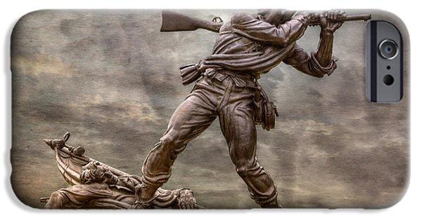 Battle Of Gettysburg Digital iPhone Cases - State of Mississippi Monument at Gettysburg  iPhone Case by Randy Steele