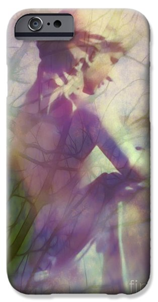 Statue in the Garden iPhone Case by Judi Bagwell