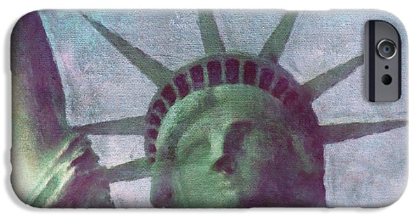America iPhone Cases - Statue of Liberty iPhone Case by Angela Doelling AD DESIGN Photo and PhotoArt