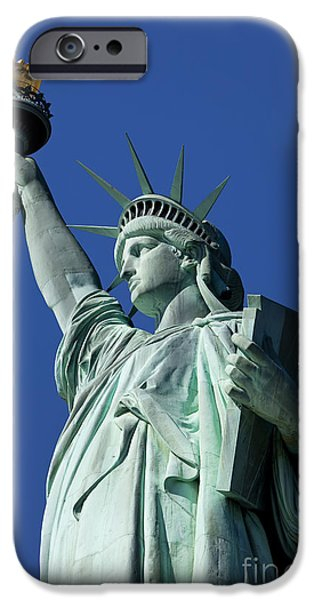Fourth Of July iPhone Cases - Statue of Liberty iPhone Case by Brian Jannsen