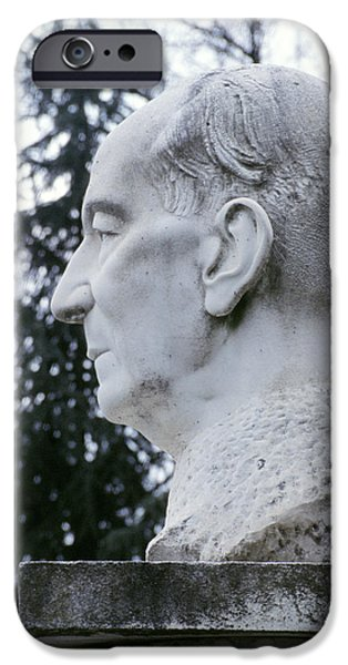 Statue Portrait iPhone Cases - Statue Of Marconi iPhone Case by Sheila Terry