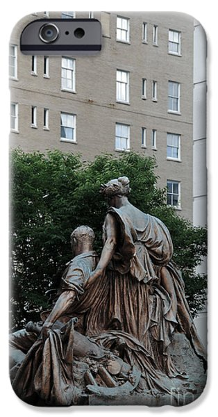 Nashville Architecture iPhone Cases - Statues in Nashville iPhone Case by Susanne Van Hulst