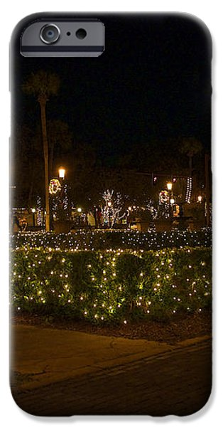 St.AugustineLights1 iPhone Case by Kenneth Albin